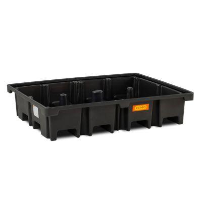 Cubeta colectora de PE para 2 palés 120 × 80cm, transversal, 425 l