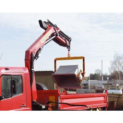Asa de carga para contenedores de gravilla, hidráulico, de volquete