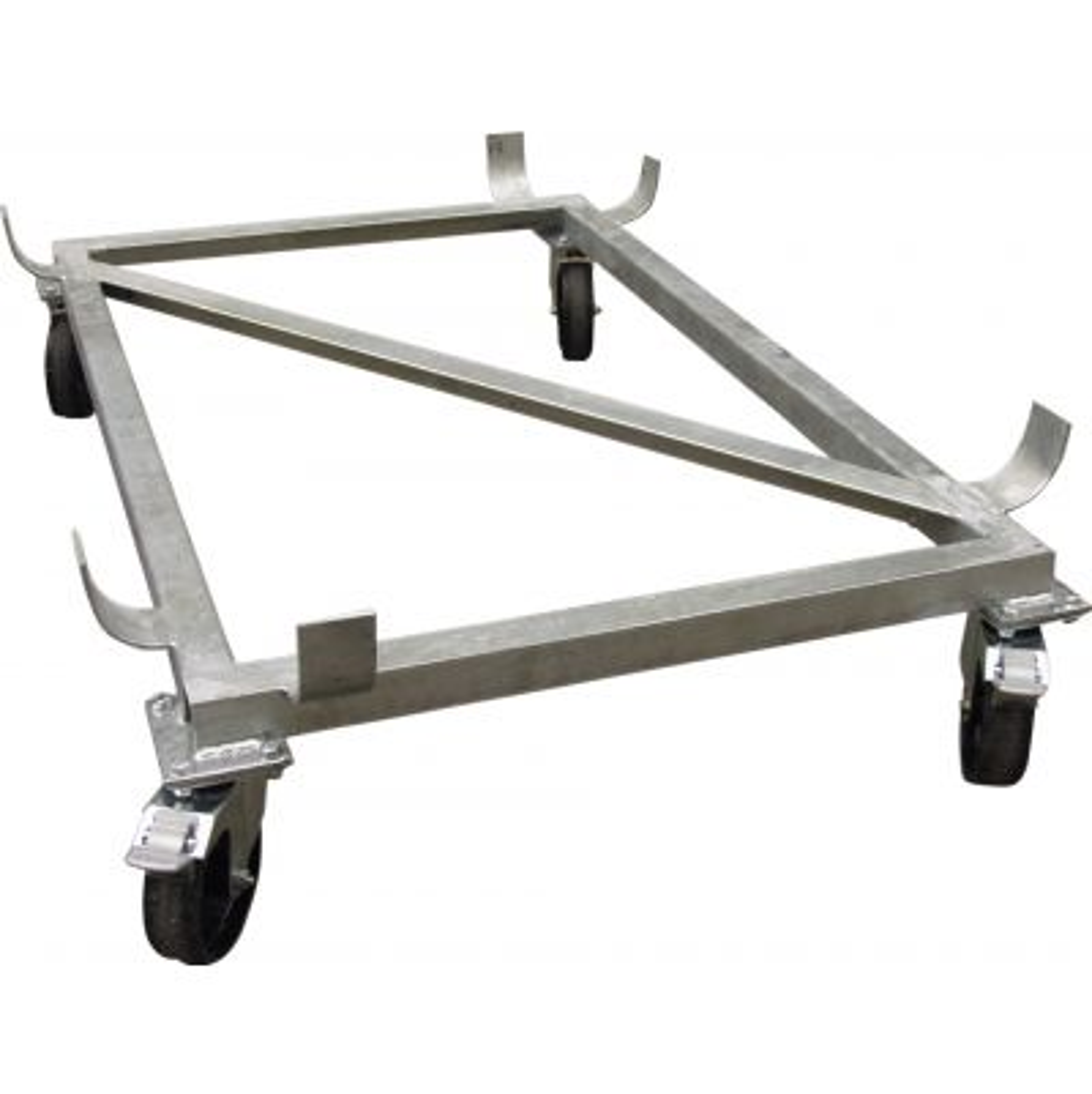 Soporte con ruedas giratorias para contenedor rectangular