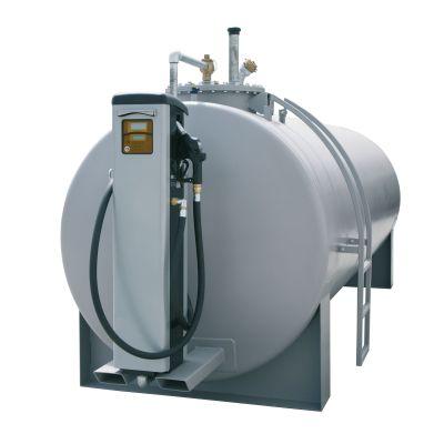 Depósito de acero con consola para surtidores de diésel